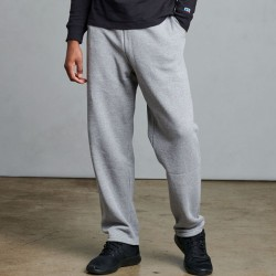 Russell Athletic Men's Dri-Power Open-Bottom Pocket Sweatpants Style #596HBM0 Oxford Grey