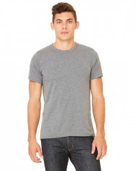 Canvas Short Sleeve Crewneck T-shirt Style #3001C Cotton/Poly Blend - Deep Heather