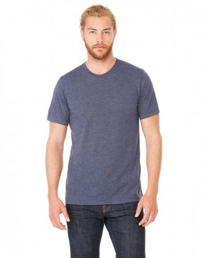 Canvas Short Sleeve Crewneck T-shirt Style #3001C Cotton/Poly Blend - Heather Midnight Navy