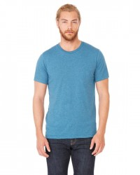 Canvas Short Sleeve Crewneck T-shirt Style #3001C Cotton/Poly Blend - Heather Deep Teal