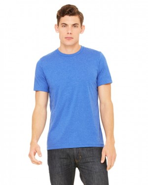 Canvas Short Sleeve Crewneck T-shirt Style #3001C Cotton/Poly Blend - Heather True Royal