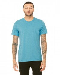 Canvas Short Sleeve Crewneck T-shirt Style #3001C Cotton/Poly Blend - Heather Aqua