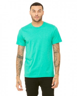 Canvas Short Sleeve Crewneck T-shirt Style #3001C Cotton/Poly Blend - Heather Sea Green