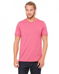 Canvas Short Sleeve Crewneck T-shirt Style #3001C Cotton/Poly Blend - Heather Raspberry