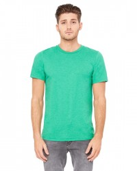 Canvas Short Sleeve Crewneck T-shirt Style #3001C Cotton/Poly Blend - Heather Kelly Green