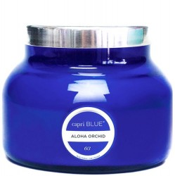 """Capri Blue"" Aloha Orchid Blue Signature Jar Candle - 19 oz"