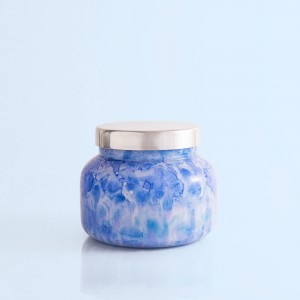 """Capri Blue"" Blue Jean Watercolor Signature Jar Candle - 19 oz"
