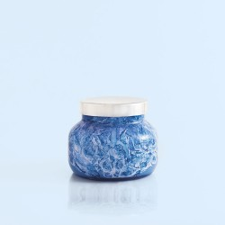 """Capri Blue"" Blue Jean Watercolor Petite Jar Candle - 8 oz"