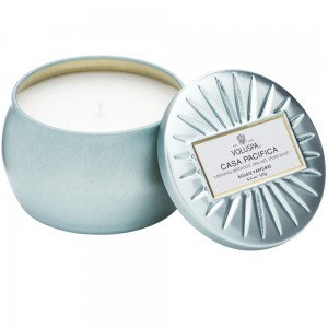 """Voluspa"" Petite Decorative Tin Candle - Casa Pacifica - Style #6827"