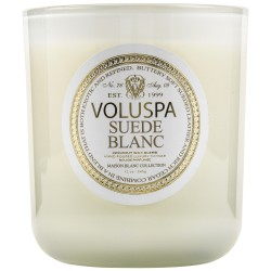 """Voluspa"" Classic Maison Candle - Suede Blanc - Style #2602"