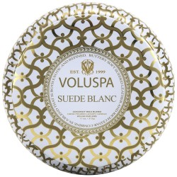 """Voluspa"" Maison Metallo 2 Wick Candle - Suede Blanc - Style #2632"