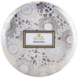Voluspa 3 Wick Candle In Decorative Tin - Mokara - Style #7228