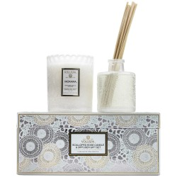 """Voluspa"" Scalloped Edge Candle & Diffuser Gift Set - Mokara - Style #7298"
