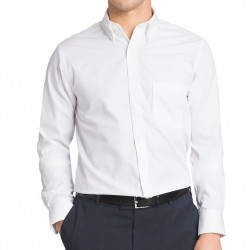 Van Heusen Classic-Fit Easy Care Pinpoint Oxford Dress Shirt - White