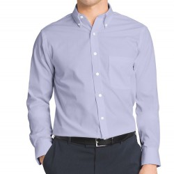 Van Heusen Classic-Fit Easy Care Pinpoint Oxford Dress Shirt - Blue