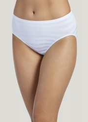 Jockey Matte & Shine Seamfree Hi-Cut Brief Style #1306 - White