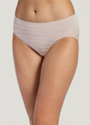 Jockey Matte & Shine Seamfree Hi-Cut Brief Style #1306 - Light Beige