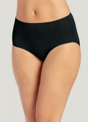Jockey No Panty Line Promise Nylon Blend Hip Brief Style #1372 - Black