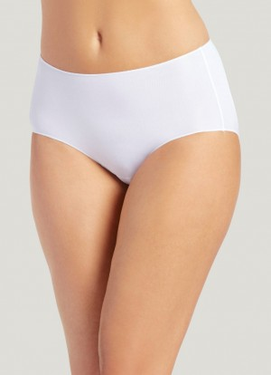 Jockey No Panty Line Promise Nylon Blend Hip Brief Style #1372 - White