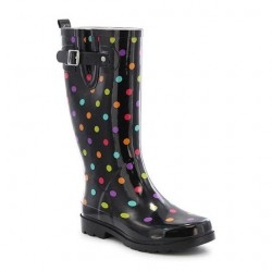 Western Chief Womens Dot City Rain Boots Style #2100323P - Black