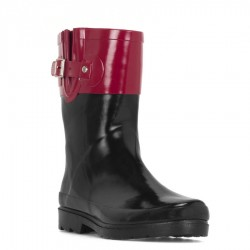 Western Chief Womens Top Pop Mid Rain Boots Style #8421920 - Pink/Black