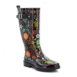 Western Chief Womens Garden Party Rain Boots Style #840182 - Black