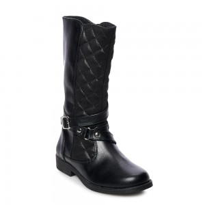 Rachel Shoes Sutton Girls Riding Boots - Black/Shimmer