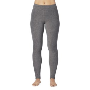 Cuddl Duds Fleecewear with Stretch Legging Style #CD8612065 & #CD8720865 - Charcoal Heather