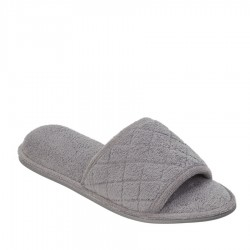 Dearfoams Microfiber Terry Slide Style #51707 - Medium Grey
