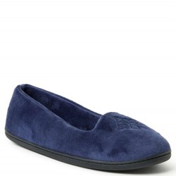 Dearfoam Closed Back Velour Slipper - Peacoat