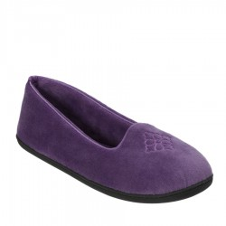 Dearfoams Microfiber Velour Closed Back Slipper Style #51701 - Smokey Purple