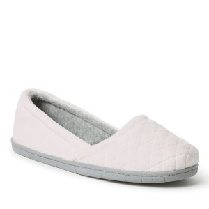 Dearfoams Quilted Velour Espadrille Style #51704 - Fresh Pink