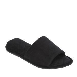 Dearfoams Microfiber Velour Slide Style #51706 - Black