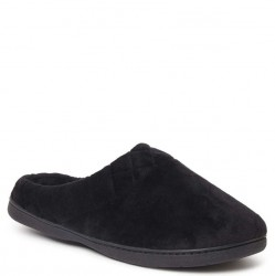 Dearfoam Slipper Open Back Velour - Black