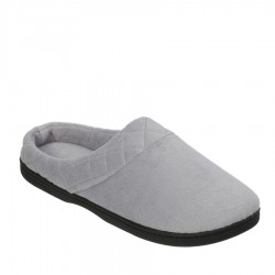 Dearfoams Microfiber Velour Clog with Quilted Cuff Style #51708 - Medium Grey