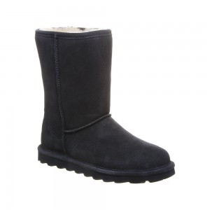 Bearpaw Womens Elle Short Boot Style - Black