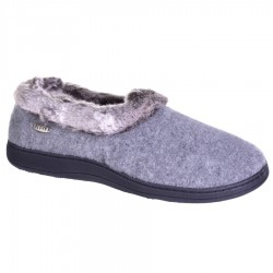 Acorn Womens Chinchilla Collar Slipper Style #A10765STO - Stone