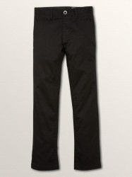 Volcom Boys Frickin Modern Stretch Pant  - Black