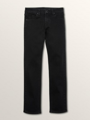 Volcom Boys Vorta Slim Fit Jeans - Blackout