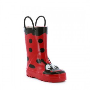 Western Chief Kids Ladybug Rain Boots Style #490487 - Red