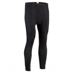 Mens Performance Rib Knit Base Layer Pant - Black