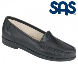SAS Slip-On Moccasin Loafer Simplify Style #1550 - Black Leather