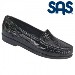 SAS Slip-On Moccasin Loafer Simplify Style #1550 - Black Croc