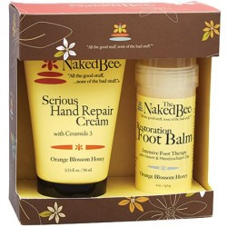 The Naked Bee Orange Blossom Honey Serious Hand Repair Cream and Foot Balm