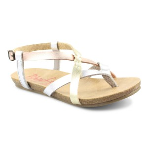 Blowfish Granola Sandals Style #BF-3814B-K - Silver / Rose Gold / Gold