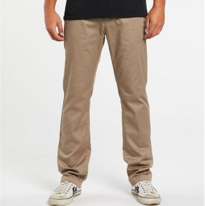 Volcom Mens Frickin Modern Stretch Chino Pants - Khaki