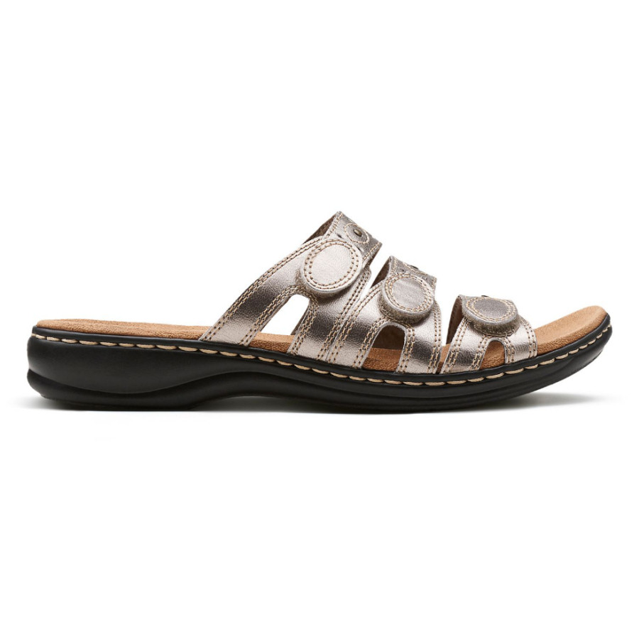 8dc4ec2594345 Clarks Womens Leisa Cacti Q Style #26100437 - Pewter Leather
