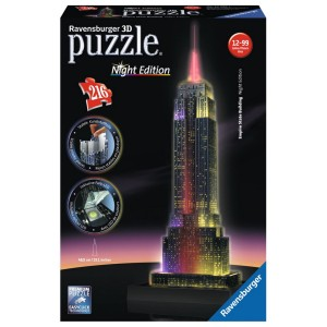 3D Puzzle - 216 pc Light Up Empire State Building