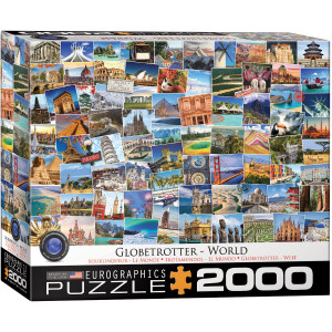 Eurographics 2000 pc Puzzle Globe Trotter of The World