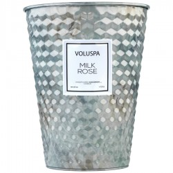 """Voluspa"" 2 Wick Tin Table Candle - Milk Rose - Style #5335"